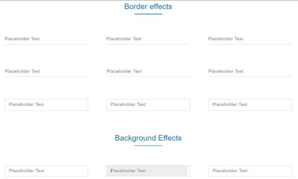 awesome input focus css effects