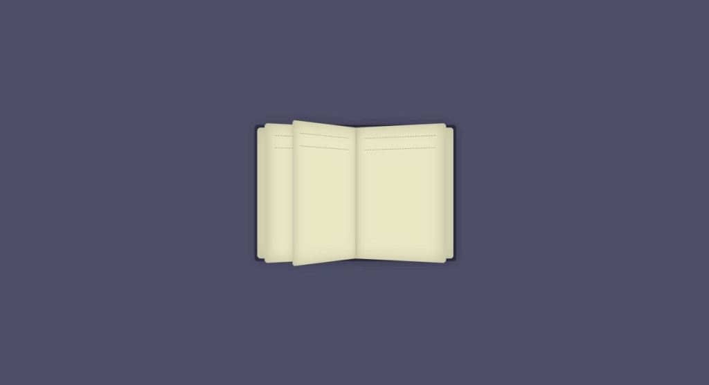 examples of book page open and flip animation effect css