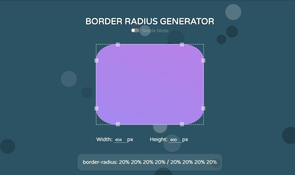 Border Radius Generator (CSS and JavaScript)