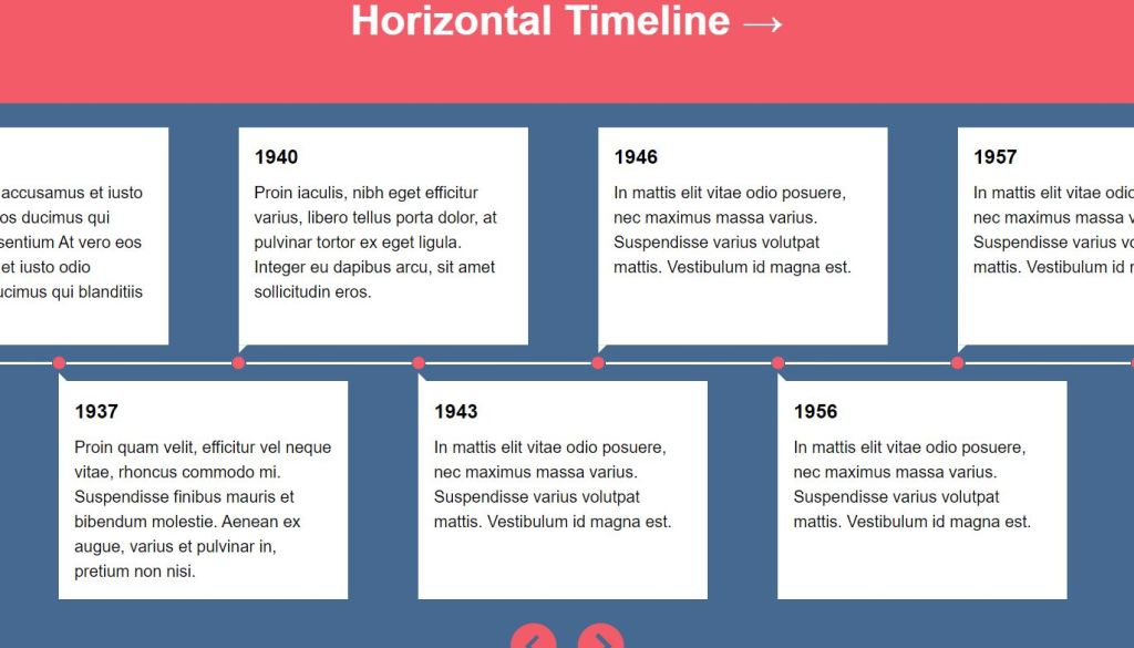 Horizontal Timeline With CSS and JavaScript