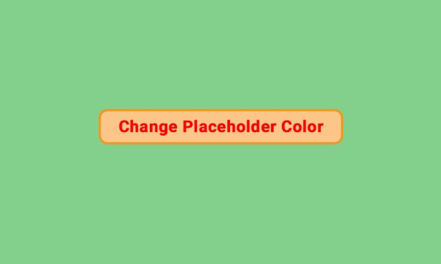 How to Change Input Placeholder Color with CSS
