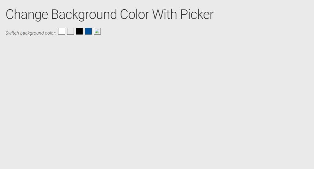 Change Background Color With Picker