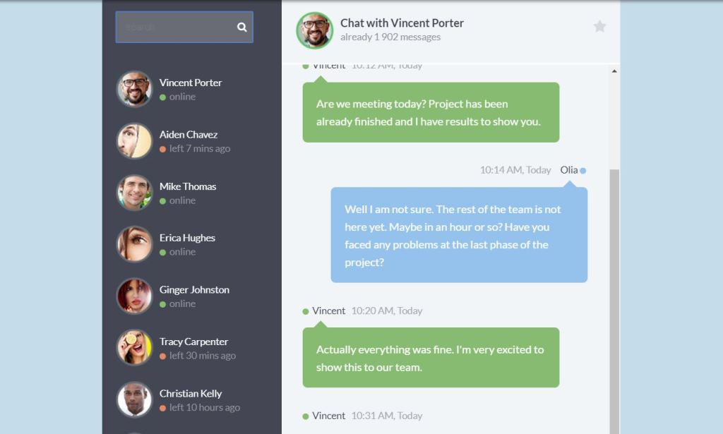 chat box CSS widget