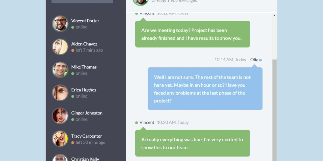 17+ Chat Box CSS Examples with Source Code