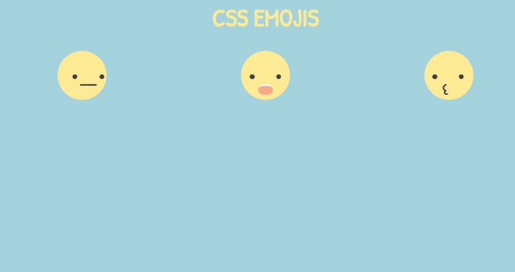 animated emoji/emoticons using HTML CSS and JavaScript codes