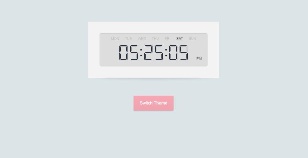 html digital countdown clock