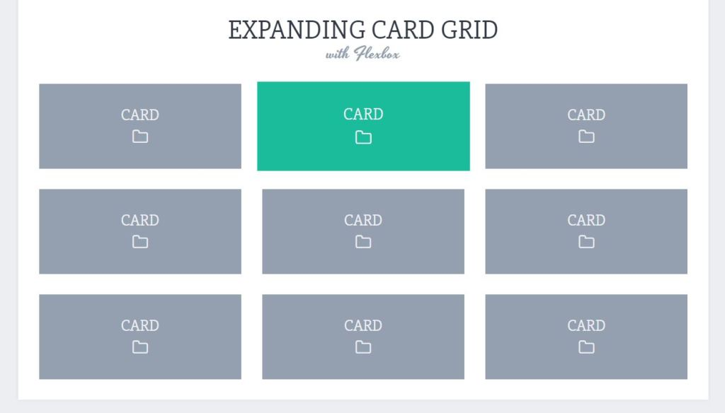flexbox card grid layout example html css