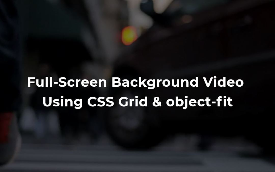 Background Video CSS Examples