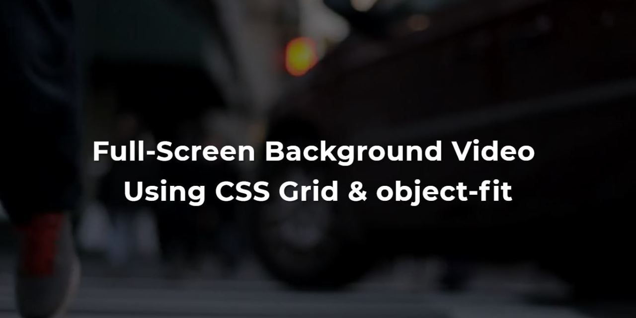20 Background Video CSS Examples Code Snippet