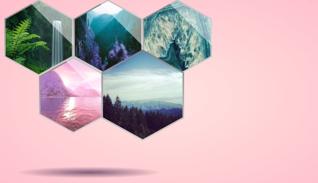 hexagon structure css image/photo gallery