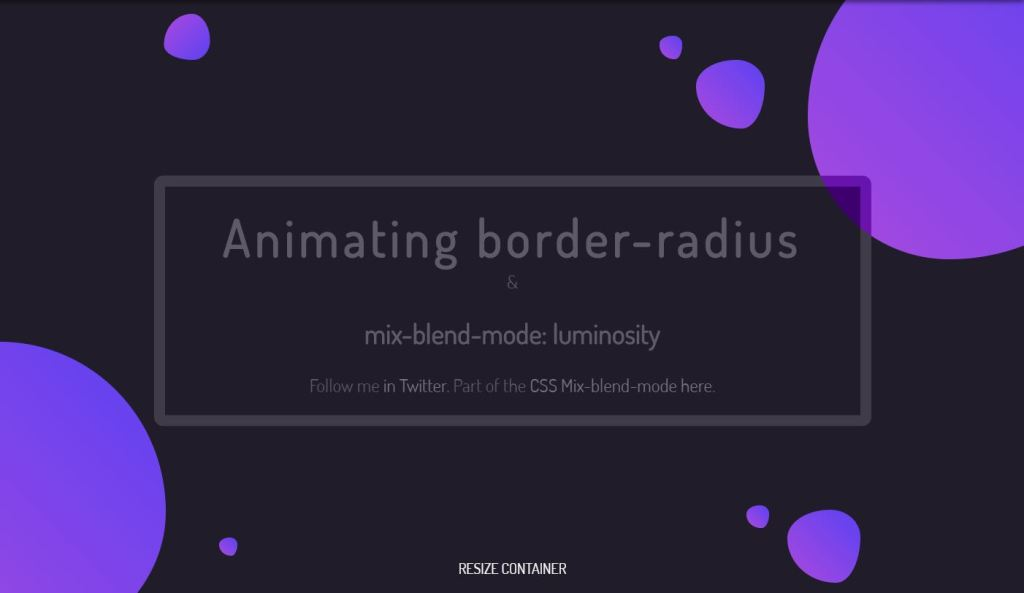 Mix Blend Mode Animating Border Radius