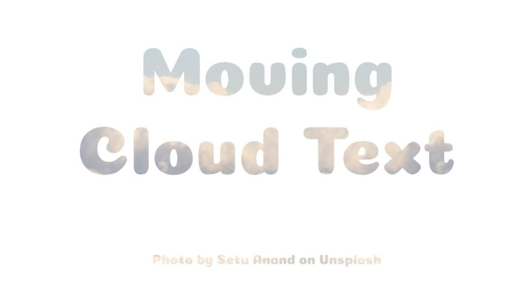 moving cloud