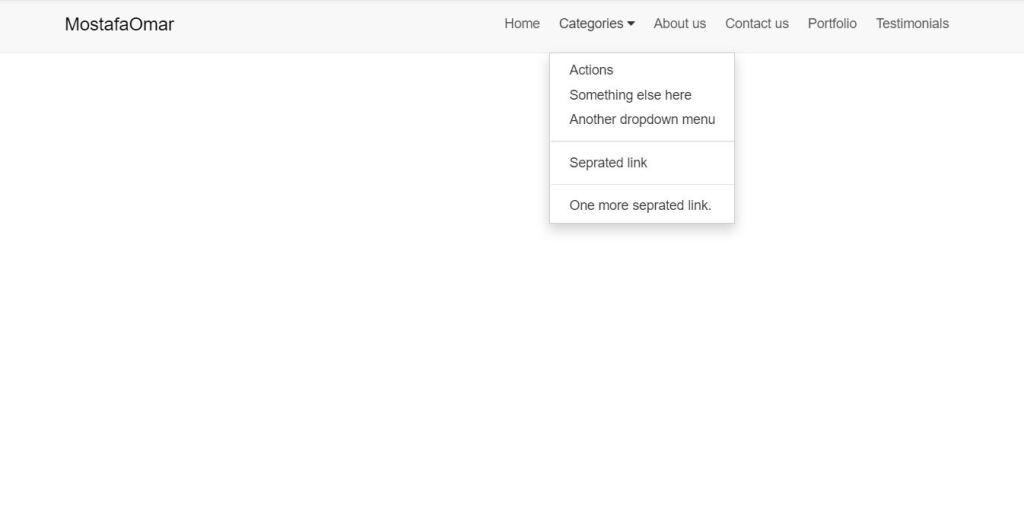 Nav bar/navigation menu HTML CSS example