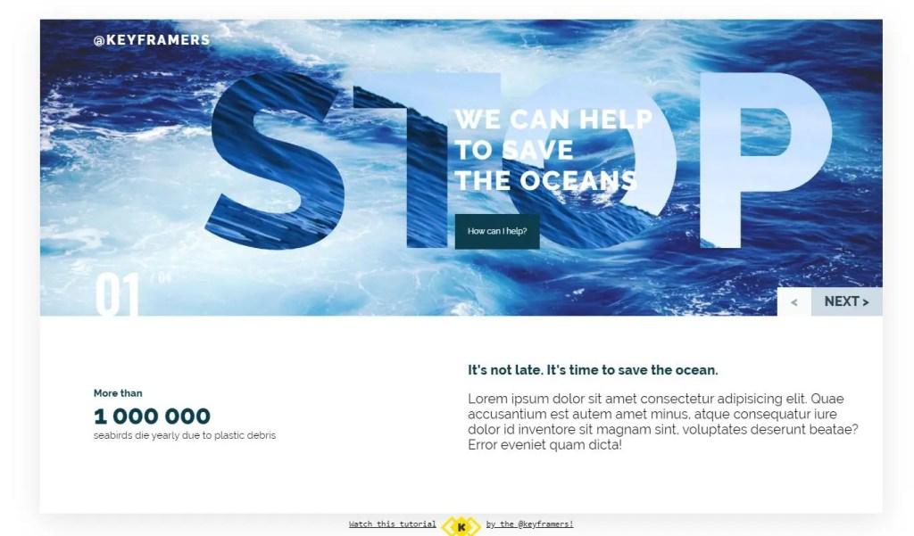 oceanic html css responsive slider olya marchak