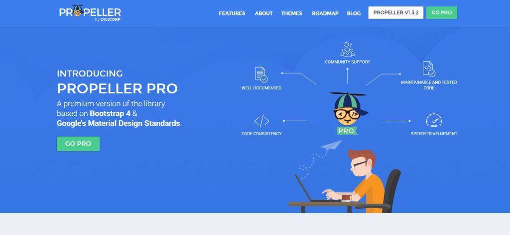 material design CSS framework Propeller