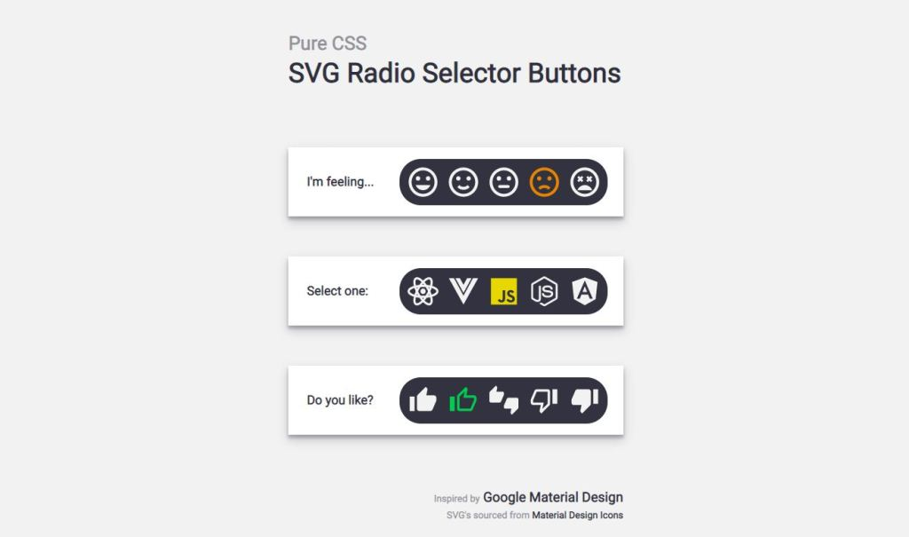 svg radio selector