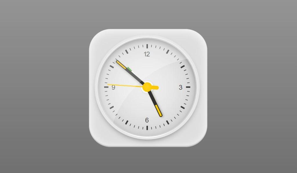 pure html braun clock