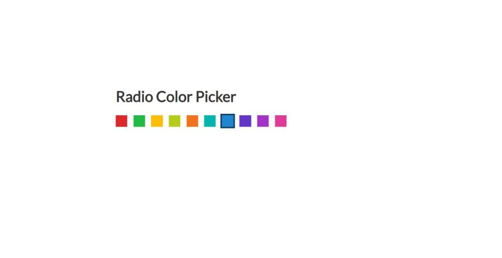radio color code picker html and css
