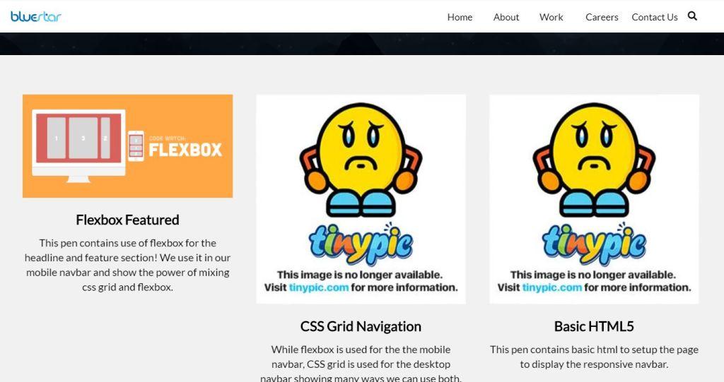 Nav bar/navigation menu HTML CSS grid