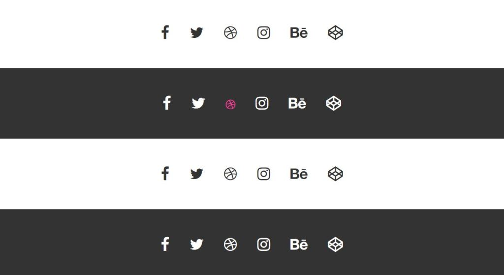 social media icons and buttons html css