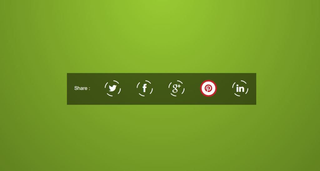 JavaScript Social Share Buttons Animation