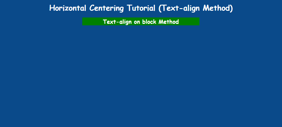 text-align on div with margin