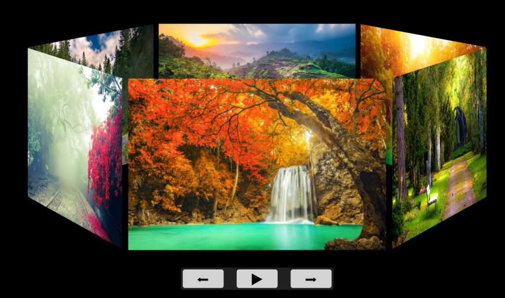 3D carousel Bootstrap Image Gallery