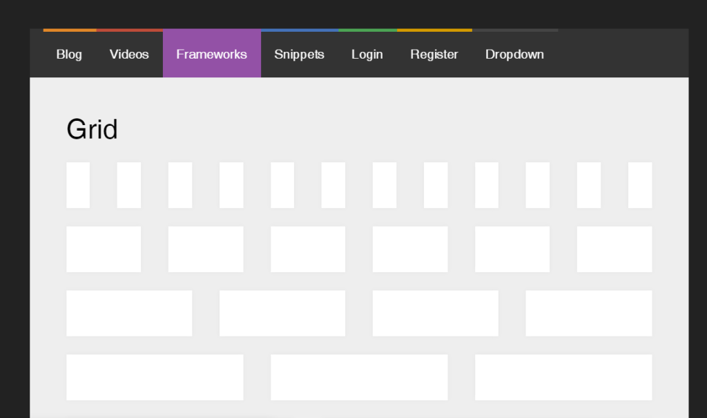 Bootstrap Horizontal Navigation Menu