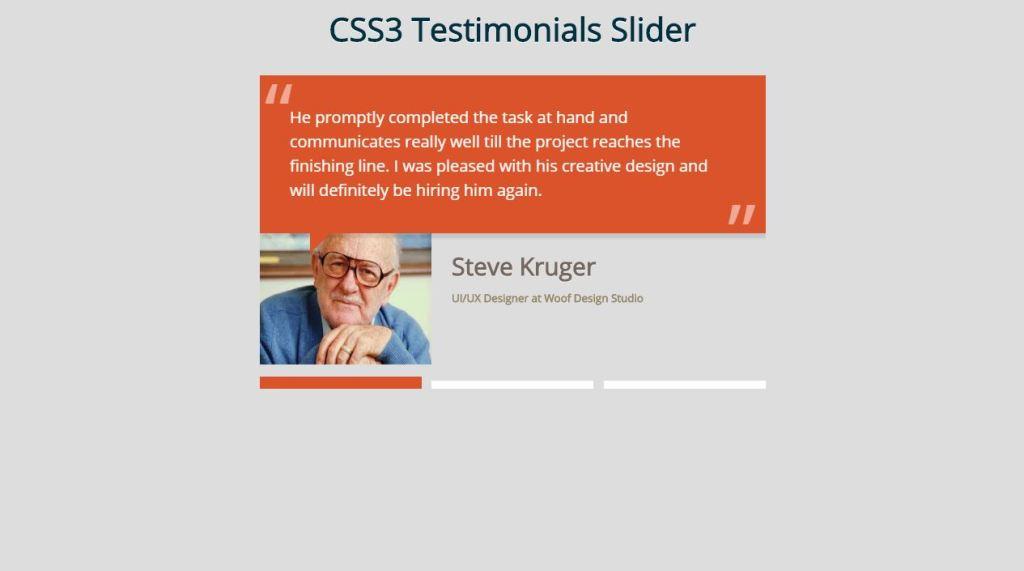 CSS3 Testimonials Slider
