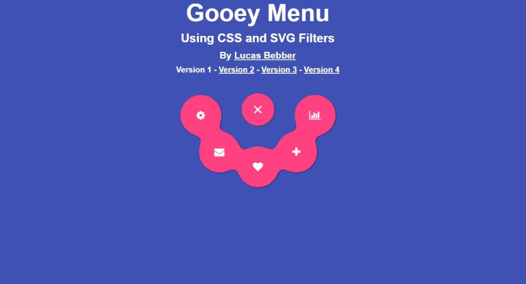 Gooey menu CSS and SVG filters