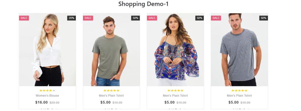 Product shopping image