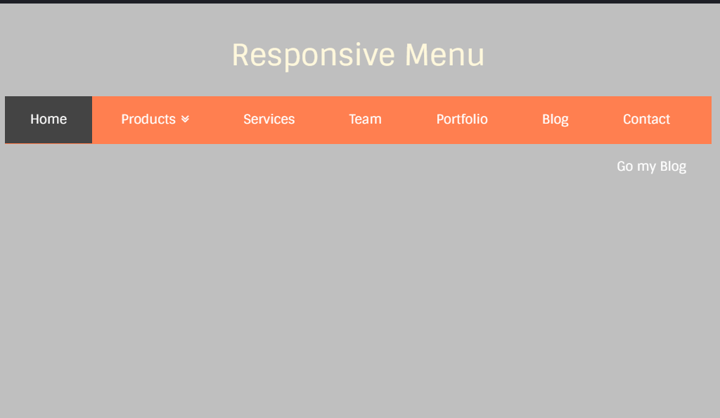Responsive and Mega menu