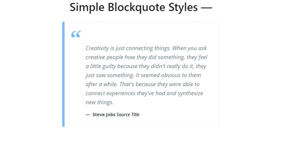 Simple Bootstrap web blockquote styles