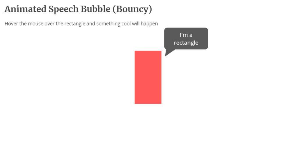 Animated speech bubble