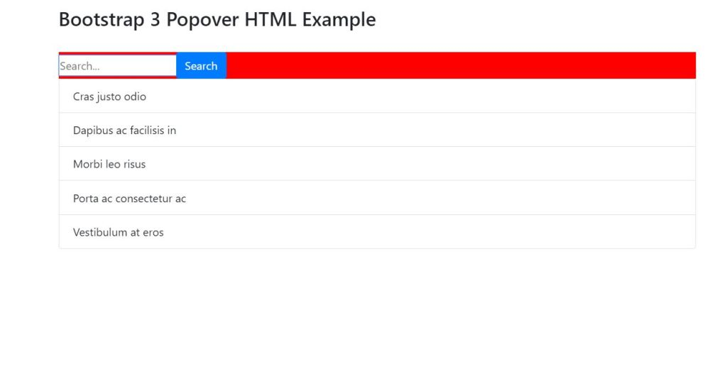 Bootstrap popover with HTML