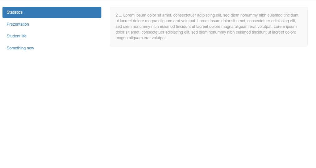Bootstrap 4 side bar menu Hover effects