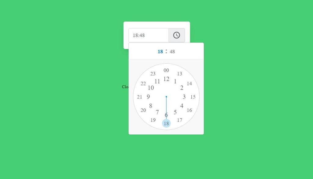 Bootstrap clock picker validate