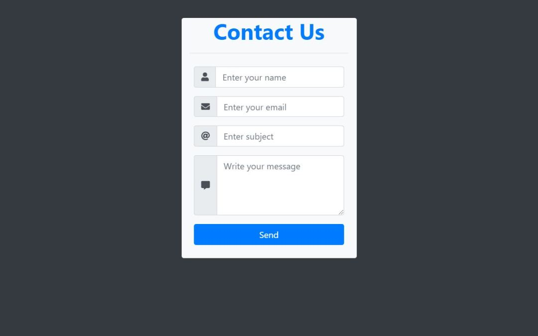 Bootstrap Contact Form Examples