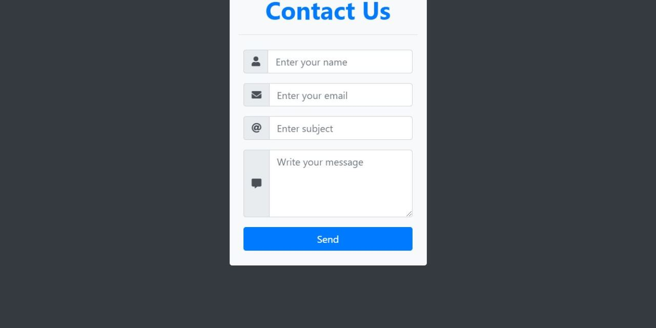 19+ Bootstrap Contact Form Examples Code Snippet - OnAirCode