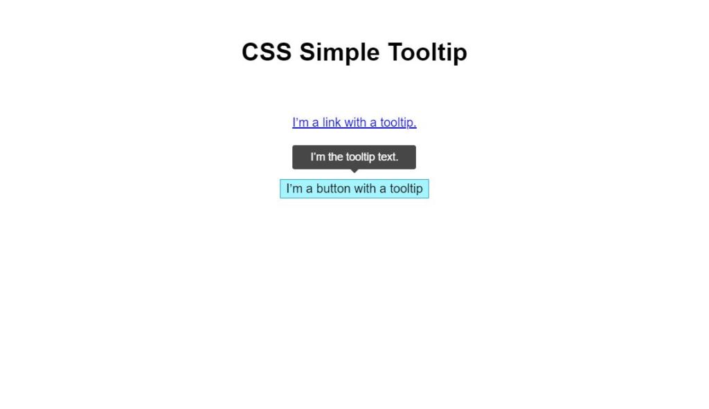 css simple tooltip
