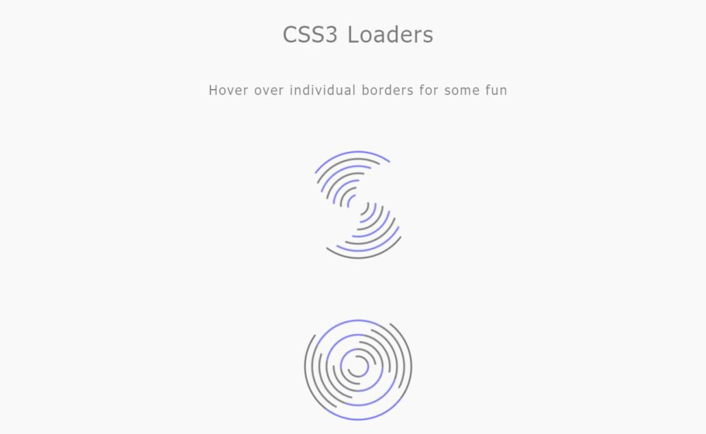 CSS3 loaders