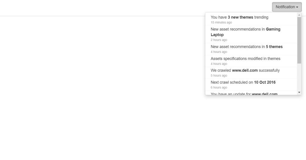 Bootstrap 4 notification custom inner example