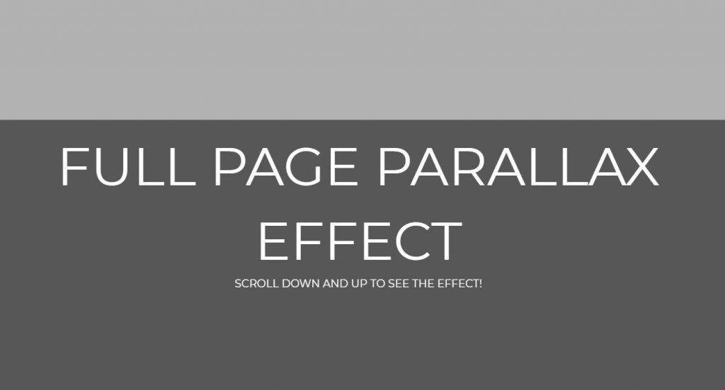 full page parallax bootstrap scroll effect
