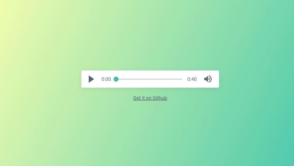 green audio player
