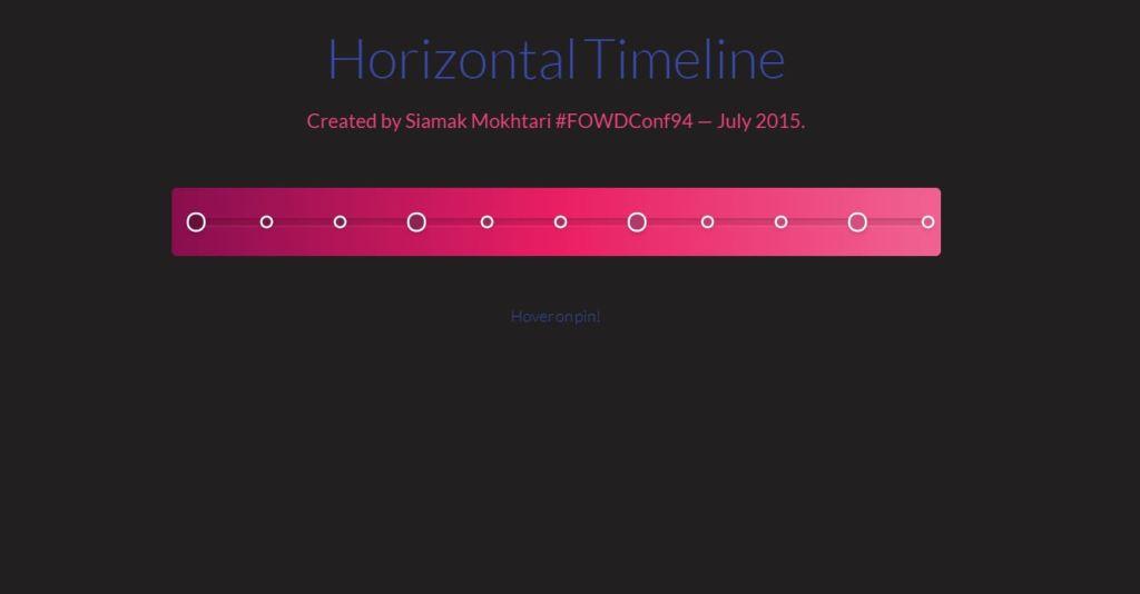 Horizontal Timelines