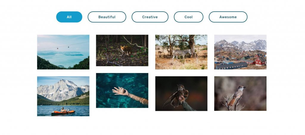 Bootstrap HTML Image Gallery grid Examples