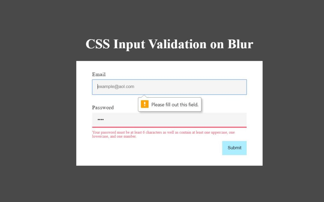 Bootstrap Form Validation Examples Code Snippet