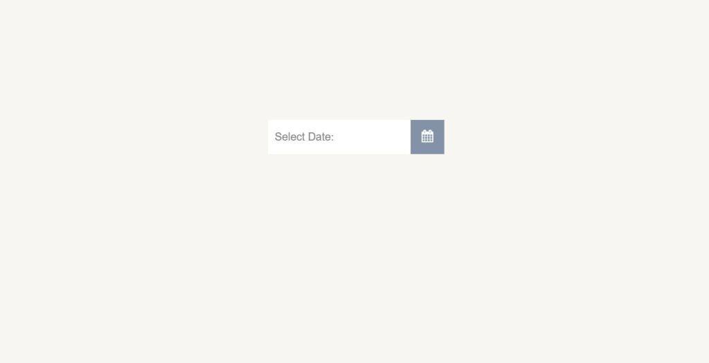 Ui datepicker Pure CSS
