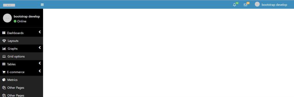 Left Side bar bootstrap admin menu