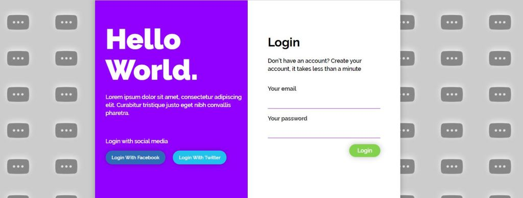 Bootstrap login form design examples